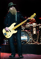 ZZ Tops rock band perform live at Manchester Apollo Theater .<br /> This pic: Dusty Hill  <br /> **UK ONLINE USAGE FEE 1st PIC-&pound;40, 2nd PIC-&pound;20, THEN &pound;10 PER PIC INCLUDING VIDEO GRABS. - NO PRICE CAP - VIDEO &pound;50**<br /> JOB REF:20308      SGD  DATE:25.07.17