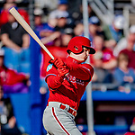 6 March 2019: Philadelphia Phillies top prospect outfielder Adam Haseley at bat during a Spring Training game against the Toronto Blue Jays at Dunedin Stadium in Dunedin, Florida. The Blue Jays defeated the Phillies 9-7 in Grapefruit League play. Mandatory Credit: Ed Wolfstein Photo *** RAW (NEF) Image File Available ***