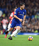 Alvaro Morata of Chelsea during the premier league match at Stamford Bridge Stadium, London. Picture date 30th December 2017. Picture credit should read: Robin Parker/Sportimage