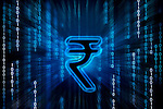 Indian rupee symbol on binary digits