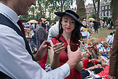 Pipe smoking event, Chaps Olympiad, Bedford Square Gardens, London, Britain's most eccentric sporting event (according to organisers Bourne & Hollingsworth.