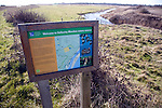 Hollesley Marshes RSPB information board, Suffolk