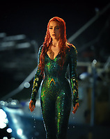 Aquaman (2018) <br /> Behind the scenes photo of Amber Heard<br /> *Filmstill - Editorial Use Only*<br /> CAP/KFS<br /> Image supplied by Capital Pictures