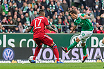 01.12.2018, Weserstadion, Bremen, GER, 1.FBL, Werder Bremen vs FC Bayern Muenchen<br /> <br /> DFL REGULATIONS PROHIBIT ANY USE OF PHOTOGRAPHS AS IMAGE SEQUENCES AND/OR QUASI-VIDEO.<br /> <br /> im Bild / picture shows<br /> Jerome / J&eacute;r&ocirc;me Boateng (FC Bayern Muenchen #17) im Duell / im Zweikampf mit Max Kruse (Werder Bremen #10) Kapit&auml;n / mit Kapit&auml;nsbinde, <br /> <br /> Foto &copy; nordphoto / Ewert