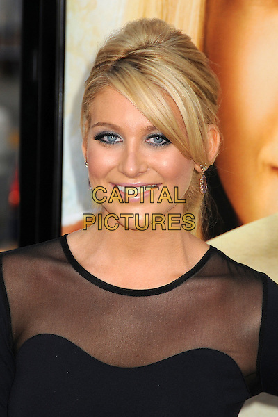 "STEPHANIE PRATT .Attending ""Letters To Juliet"" Los Angeles Premiere held at Grauman's Chinese Theatre, Hollywood, California , USA, .11th May 2010..arrivals portrait headshot make-up hair up tanned smiling black sheer mesh see thru through  fringe .CAP/ADM/BP.©Byron Purvis/AdMedia/Capital Pictures."