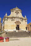 Cathedral church of the Assumption in citadel castle Il-Kastell, Victoria Rabat, Gozo, Malta