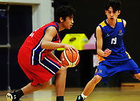 Action from the 2017 Zone 3 AA Secondary Schools basketball premierships boys match between Hastings Boys High School and St Bernard's College at Arena Manawatu in Palmerston North, New Zealand on Wednesday, 6 September 2017. Photo: Dave Lintott / lintottphoto.co.nz