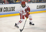 ST CHARLES, MO - MARCH 19:  Annie Pankowski (19) of the Wisconsin Badgers takes a shot during the Division I Women's Ice Hockey Championship held at The Family Arena on March 19, 2017 in St Charles, Missouri. Clarkson defeated Wisconsin 3-0 to win the national championship. (Photo by Mark Buckner/NCAA Photos via Getty Images)
