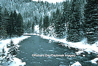 65195-037.07 Gallatin river in winter near Big Sky  MT