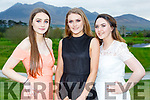 Ella Teahan, Keeley Mangan and Ciara O'Mahony at the Beaufort Youth club ball in Beaufort Golf club on Wednesday evening
