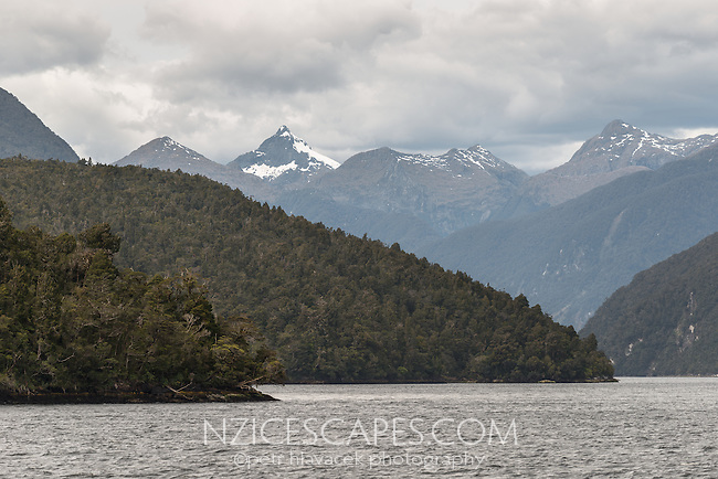 Doubtful Sound, Fiordland National Park, UNESCO World Heritage Area, Southland, New Zealand, NZ