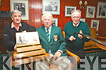 Ref Jim O'G/Jimmy D Story....Waterville Golf Club gears up for the Charlie Chaplin Am-Am 7th & 8th October, the final major of the Season, pictured here l-r; Tommy O'Sullivan, Hugh Mullins(Captain WGC) & Eamon English(Tournament Organiser).
