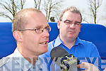 Shocked staff leader Pat Dunworth and Tomas Brennan talks to the media after the announced the 104 jobs will be lost in the company in Castleisland on Tuesday....