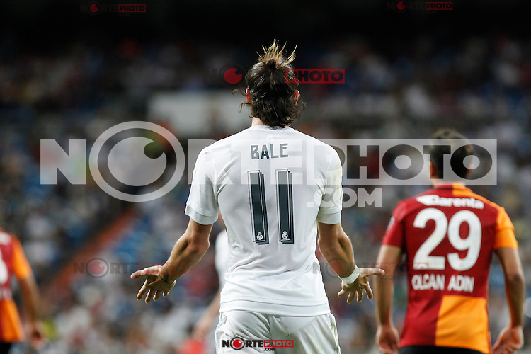 Real Madrid´s Gareth Bale after missing a chance during Santiago Bernabeu Trophy match at Santiago Bernabeu stadium in Madrid, Spain. August 18, 2015. (ALTERPHOTOS/Victor Blanco)