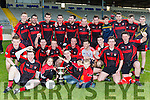 Kenmare team celebrate afterCaptain Rob Hobnett received the Barrett cup  after defeating St Mary's in the final in Fitzgerald Stadium on Sunday