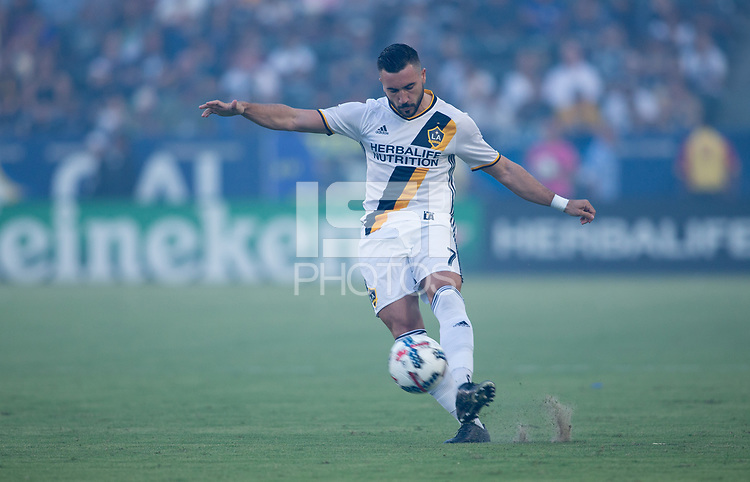 Carson, CA - Saturday July 29, 2017: Romain Alessandrini during a Major League Soccer (MLS) game between the Los Angeles Galaxy and the Seattle Sounders FC at StubHub Center.