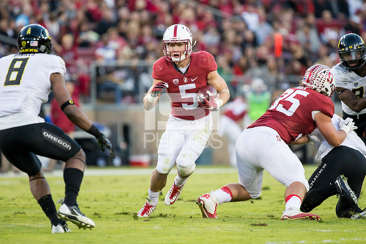STANFORD, CA - November 15, 2015:  Stanford Cardinal vs Oregon Ducks at Stanford Stadium.  Oregon defeated Stanford 38-36.