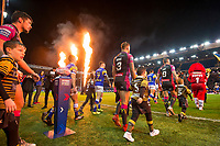 Picture by Allan McKenzie/SWpix.com - 08/02/2018 - Rugby League - Betfred Super League - Leeds Rhinos v Hull KR - Elland Road, Leeds, England - Leeds Rhinos and Hull Kingston Rovers come  out at Elland Road for their Betfred Super League clash.