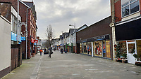 Quay Street in Ammanford town centre, Carmarthershire, Wales, UK. Monday 10 December 2018