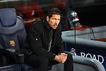 UEFA Champions League 2013/2014.<br /> Quarter-finals 1st leg.<br /> FC Barcelona vs Club Atletico de Madrid: 1-1.<br /> Cholo Simeone.
