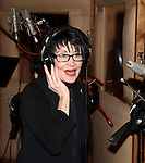 Chita Rivera recording the 2012 Original Broadway Cast Recording of 'The Mystery of Edwin Drood' at the KAS Music & Sound Studios in Astoria, New York on December 10, 2012