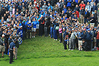 Francesco Molinari (Team Europe) on the 8th during Friday Fourball at the Ryder Cup, Le Golf National, Iles-de-France, France. 28/09/2018.<br /> Picture Thos Caffrey / Golffile.ie<br /> <br /> All photo usage must carry mandatory copyright credit (© Golffile | Thos Caffrey)