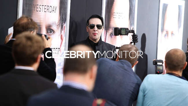 """WESTWOOD, LOS ANGELES, CA, USA - APRIL 10: Marilyn Manson at the Los Angeles Premiere Of Warner Bros. Pictures And Alcon Entertainment's """"Transcendence"""" held at Regency Village Theatre on April 10, 2014 in Westwood, Los Angeles, California, United States. (Photo by Xavier Collin/Celebrity Monitor)"""