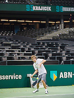 Rotterdam, The Netherlands. 16.02.2014. ABN AMRO World tennis Tournament Alec Deckers<br /> Photo:Tennisimages/Henk Koster