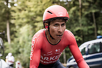 Nairo Quintana (COL/Arkea-Samsic) on the steep parts of the individual time trial up the infamous Planche des Belles Filles<br /> <br /> Stage 20 (ITT) from Lure to La Planche des Belles Filles (36.2km)<br /> <br /> 107th Tour de France 2020 (2.UWT)<br /> (the 'postponed edition' held in september)<br /> <br /> ©kramon