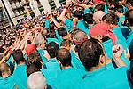 Castellers Competition during the La Merce Festival in Placa de Sant Jaume, Barcelona, Spain (Castellers de Barcelona Finale Festes La Merce 2006)