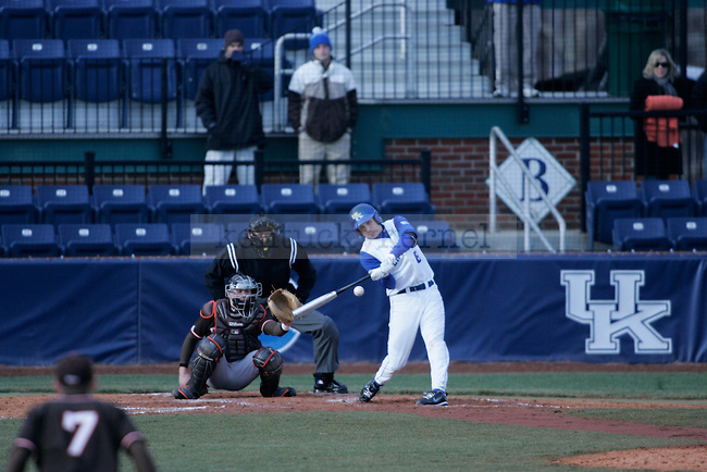 The UK Baseball team plays Bowling Green at Cliff Hagan Field on Friday, Feb. 26, 2010. Photo by Adam Wolffbrandt | Staff