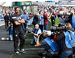 David Wagner manager of Huddersfield Town getting more press attention in the premier league during the premier league match at the John Smith's Stadium, Huddersfield. Picture date 20th August 2017. Picture credit should read: Simon Bellis/Sportimage