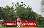 CHON BURI, THAILAND - FEBRUARY 16:  Meena Lee of South Korea tees off on the 15th hole during day one of the LPGA Thailand at Siam Country Club on February 16, 2012 in Chon Buri, Thailand.  Photo by Victor Fraile / The Power of Sport Images