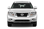 Car photography straight front view of a 2015 Nissan Pathfinder Sl 2Wd 5 Door Suv 2WD Front View