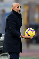 Luciano Spalletti of Internazionale takes the ball during the Serie A 2018/2019 football match between Empoli and Internazionale at stadio Castellani, Empoli, December, 29, 2018 <br /> Foto Andrea Staccioli / Insidefoto