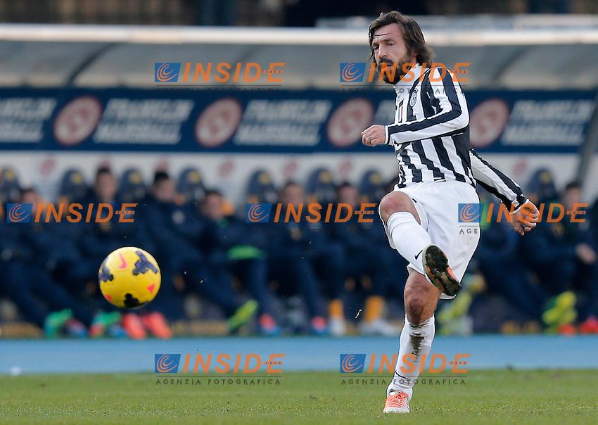 Andrea Pirlo Juventus, Verona 9-2-2014, Stadio Bentegodi, Football Calcio 2013/2014 Serie A, Hellas Verona - Juventus, Foto Marco Bertorello/Insidefoto