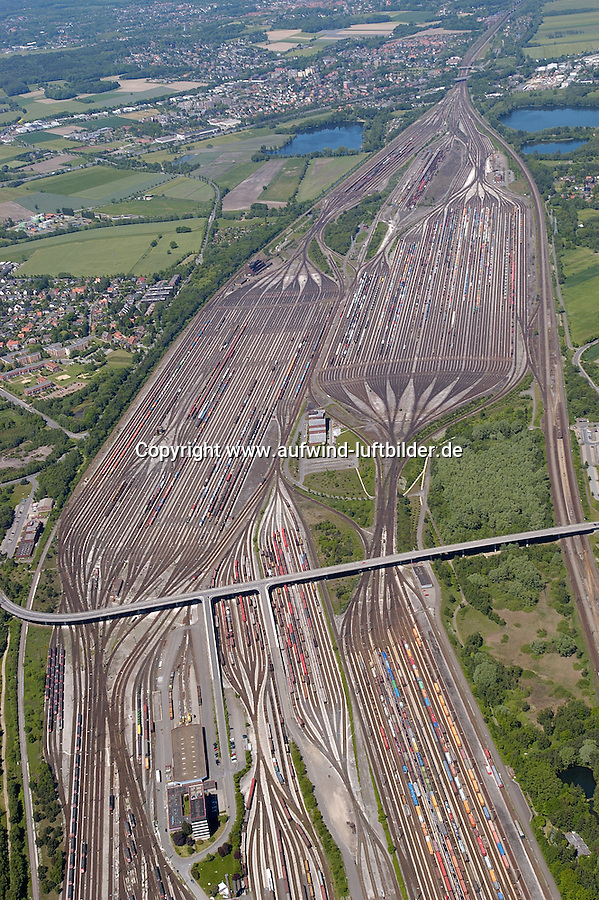 Deutschland, Niedersachsen, Maschen, Verschiebebahnhof, Deutsche Bahn, Verkehr, Transport, Schiene