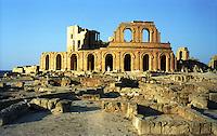Libia  Sabratha .Citt&agrave;  romana a circa 67km da Tripoli.Teatro Romano.<br /> Sabratha Libya.Roman city about 67km from Tripoli. Roman Theatre