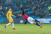 23rd March 2018, Ullevaal Stadion, Oslo, Norway; International Football Friendly, Norway versus Australia; Omar Elabdellaoui of Norway clears the ball with a diving header