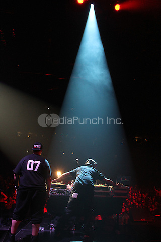 NEW YORK, NY - OCTOBER 17, 2014<br /> <br /> Kid Capri &amp; DJ Scratch perform at the Def Jam 30 Anniversary Client at The Barclays Center, October 16, 2014 in New York City.<br /> <br /> <br /> &copy; Walik Goshorn / MediaPunch