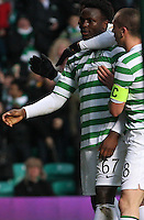 Scott Brown congratulates Victor Wanyama after his goal in the Celtic v St Mirren Clydesdale Bank Scottish Premier League match played at Celtic Park, Glasgow on 15.12.12.
