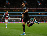 Riyad Marhez of Manchester City celebrates scoring the first goal during the Premier League match at Villa Park, Birmingham. Picture date: 12th January 2020. Picture credit should read: Darren Staples/Sportimage