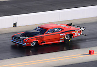 Sept. 14, 2012; Concord, NC, USA: NHRA pro mod driver Todd Tutterow during qualifying for the O'Reilly Auto Parts Nationals at zMax Dragway. Mandatory Credit: Mark J. Rebilas-