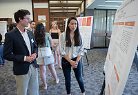 """Efforts to Develop a Thiourea-Catalyzed Addition to ortho-Quinone Methides"" by Cheyenne Orozco<br /> (Mentor: Raul Navarro, Chemistry)<br /> Occidental College's Undergraduate Research Center hosts their annual Summer Research Conference, Aug. 1, 2018. Student researchers presented their work as either oral or poster presentations at the final conference. The program lasts 10 weeks and involves independent research in all departments.<br /> (Photo by Marc Campos, Occidental College Photographer)"