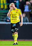 Uppsala 2015-05-21 Fotboll Superettan IK Sirius - Mj&auml;llby AIF :  <br /> Mj&auml;llbys Robin Cederberg deppar efter matchen mellan IK Sirius och Mj&auml;llby AIF <br /> (Foto: Kenta J&ouml;nsson) Nyckelord:  Superettan Sirius IKS Mj&auml;llby AIF depp besviken besvikelse sorg ledsen deppig nedst&auml;md uppgiven sad disappointment disappointed dejected