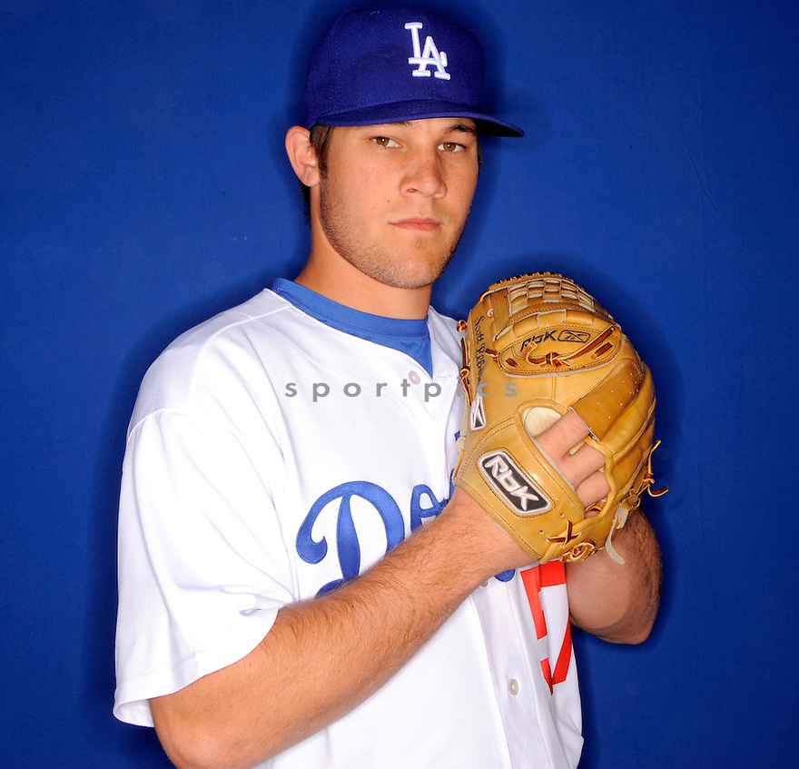 SCOTT ELBERT, of the Los Angeles Dodgers, during photo day of spring training and the Dodger's training camp in Glendale, Arizona on February 21, 2009.