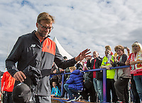 Liverpool Manager Jurgen Klopp arrives at the ground during the 2016/17 Pre Season Friendly match between Tranmere Rovers and Liverpool at Prenton Park, Birkenhead, England on 8 July 2016. Photo by PRiME Media Images.