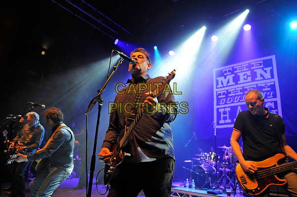 LONDON, ENGLAND - APRIL 15: Paul Simmonds, Phillip Odgers, Stefan Cush and Ricky McGuire of 'The Men They Couldn't Hang' performing at Shepherd's Bush Empire on April 15, 2017 in London, England.<br /> CAP/MAR<br /> &copy;MAR/Capital Pictures