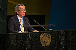 Japan<br /> <br /> General Assembly Seventy-first session, 25th plenary meeting<br /> 1.  Organization of work, adoption of the agenda and allocation of items: Documentation for the election of the members of the International Law Commission: review of the list of candidates [item 7]<br /> 2.  Implementation of the resolutions of the United Nations [item 120] Revitalization of the work of the General Assembly [item 121]<br />      Joint debate