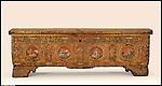 Cassapanca conservata al Museo d'Arte Antica di Palazzo Madama